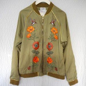 Lauren Moshi Ladies Monogram Bomber Jacket Size Sm